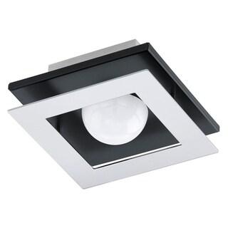 Eglo Bellamonte 1-Light Ceiling Light with Brushed Aluminum and Black Finish