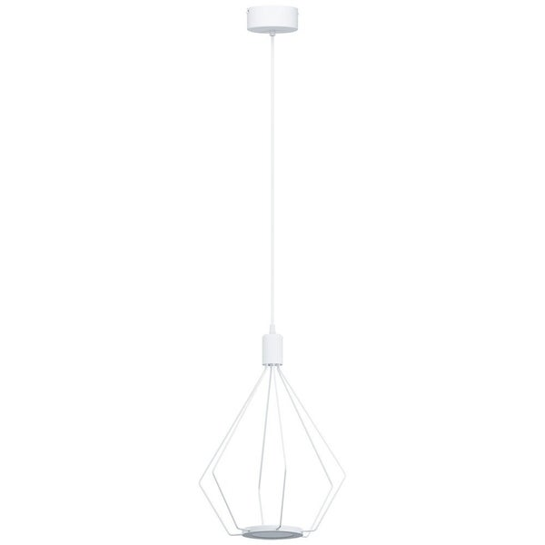Eglo Cados LED Pendant with Geometric Shape and White Finish