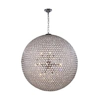 Cabaret 18-Light 36 in. Chrome Pendant with Royal Cut Crystals