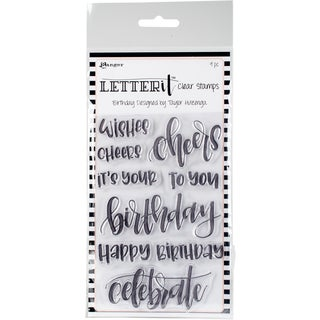 "Ranger Letter It Clear Stamp Set 4""X6"""