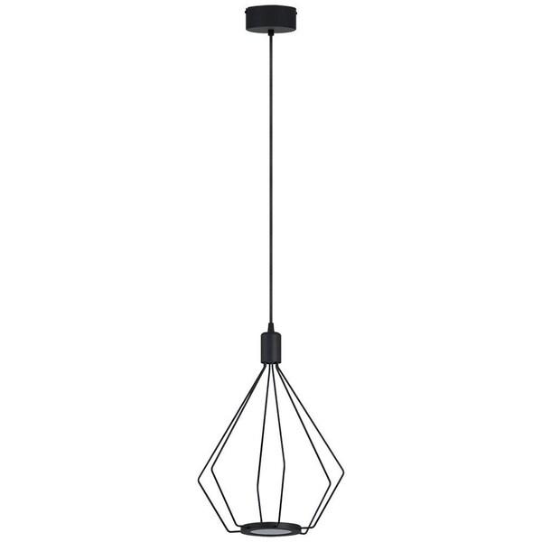 Eglo Cados LED Pendant with Geometric Shape and Black Finish