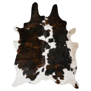 Brindle and White Natural Cowhide Rug