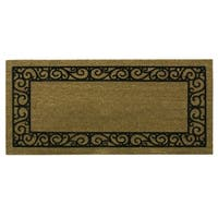 Coir Flocked Natural French Quarters Runner doormat by Bacova