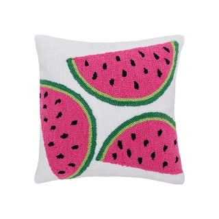 Watermelon Hooked 18 Inch Throw Pillow