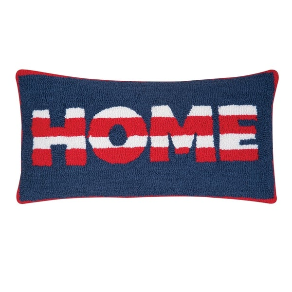 Home Hooked 12x24 Throw Pillow