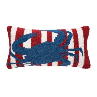 Striped Crab Hooked 12x24 Throw Pillow