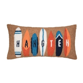 Surf Board Hooked 12x24 Throw Pillow