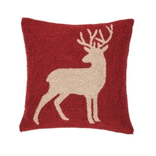 Buck Hooked 18 Inch Throw Pillow