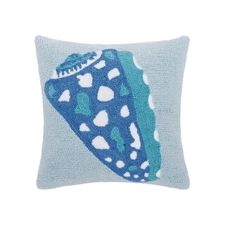 Shell Hooked 18 Inch Throw Pillow