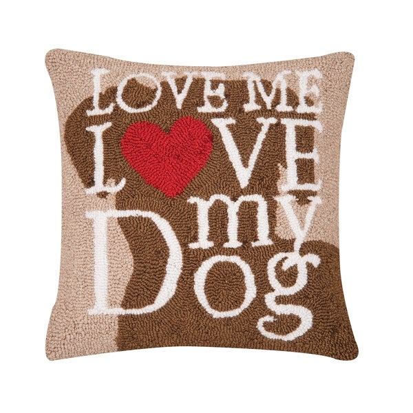 Dog Love Hooked 18 Inch Throw Decorative Accent Throw Pillow