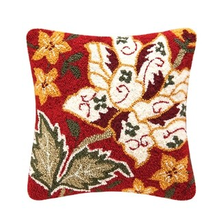 Florentine Red Hooked 16 Inch Throw Decorative Accent Throw Pillow