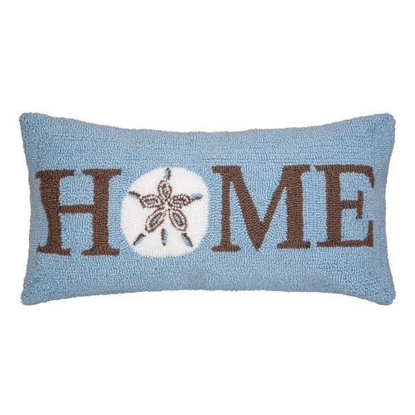 Welcome Home Sand Dollar Hooked 12x24 Throw Pillow