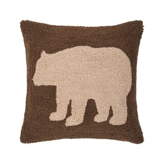 Bear Hooked 18 Inch Throw Pillow