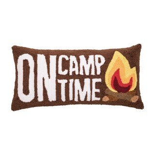 On Camp Time Hooked 12x24 Throw Pillow