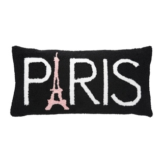 Paris Hooked 12x24 Throw Pillow