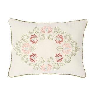 Nostalgia Home Eve Embroidered Decorative Pillow