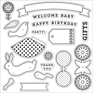 "Fiskars Clear Stamps 8""X8"""