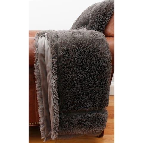 THRO Faux Fur Micromink Throw
