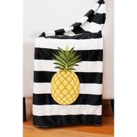 50x60 Pana Pineapple Stripe Micromink Decorative Throw