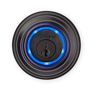 Kwikset Electronic Bluetooth Single Cylinder Deadbolt Venetian Bronze Metal 2 Grade Right Handed
