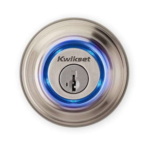 Kwikset Electronic Bluetooth Single Cylinder Deadbolt Satin Nickel Metal 2 Grade Right Handed