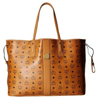 MCM Liz Reversible Large Cognac Tote Bag