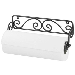 Home Basics Black Wall-mounted Paper Towel Holder