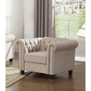 Best Master Furniture Fabric Tufted Upholstered Chair