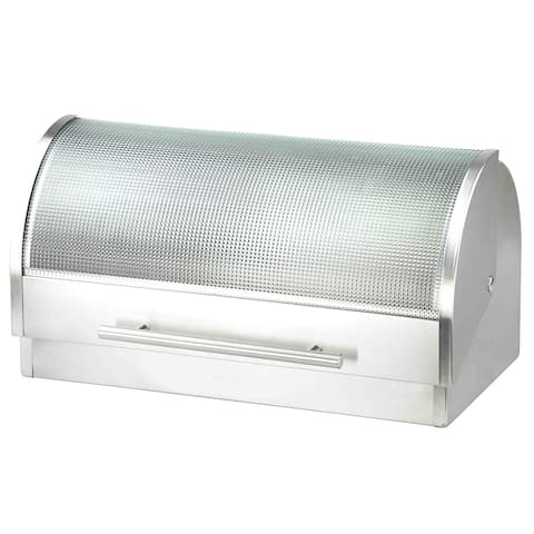 Home Basics Silver Stainless Steel Bread Box