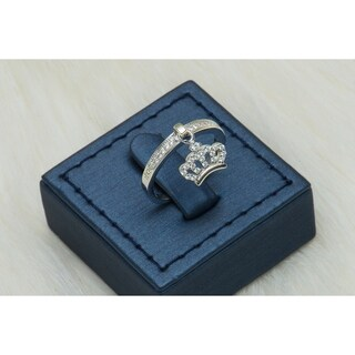 Pori Jewelers Crown Ring with Cubic Zirconia in Sterling Silver