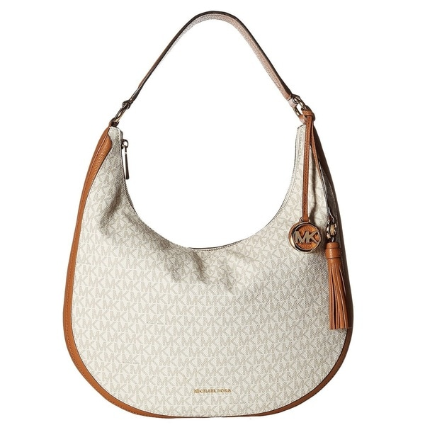 c00b22c91149 Shop MICHAEL Michael Kors Lydia Signature Large Vanilla Hobo Bag ...
