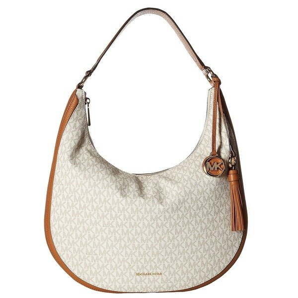 ca64f5121bcb Shop MICHAEL Michael Kors Lydia Signature Large Vanilla Hobo Bag ...