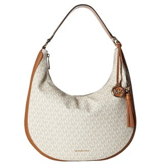 MICHAEL Michael Kors Lydia Signature Large Vanilla Hobo Bag