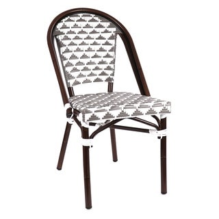 Versailles Aluminum Wood Look-alike Stackable Bistro Chair