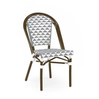 Versailles Aluminum Wood Look-alike Stackable Bistro Chair