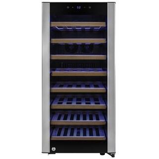 AKDY WC0038 38 Bottles Single Zone Tempered Glass Door Compressor Freestanding Wine Cooler