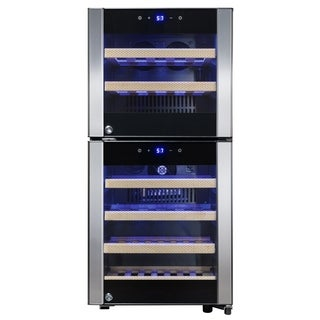 AKDY WC0039 33 Bottles Dual Zone Compressor Function Freestanding Wine Cooler Refirgerator