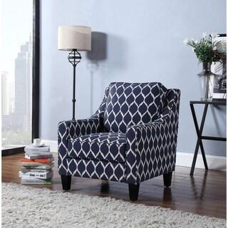 Best Master Furniture Upholstered Ikat Pattern Living Room Arm Chair