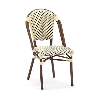 Les Lilas Aluminum Wood Look-alike Stackable Bistro Chair