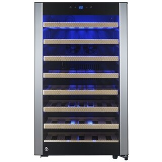 AKDY WC0040 52 Bottle Single Zone Built-in Compressor Freestanding Wine Cooler Refirgerator