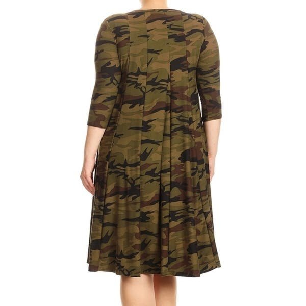 Shop Women\'s Plus Size Camouflage Dress - Free Shipping On ...