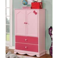 Furniture of America Matilda Transitional 2-door Youth Armoire