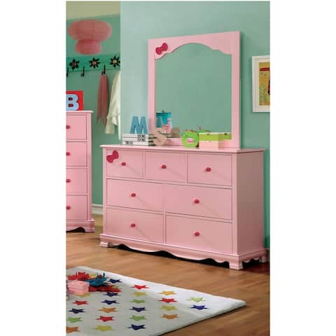 Furniture of America Jevi 2-piece Youth Dresser and Mirror Set