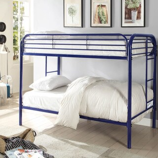 Furniture of America Lawrence Contemporary Metal Twin Bunk Bed
