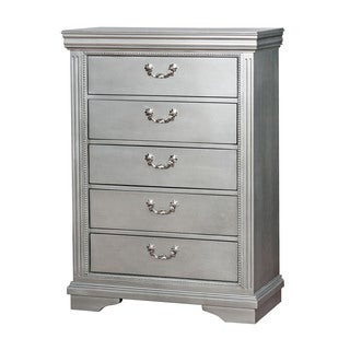 Furniture of America Brummel Traditional Glam Silver 5-drawer Chest