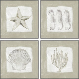 Sea Fun Quadriptych