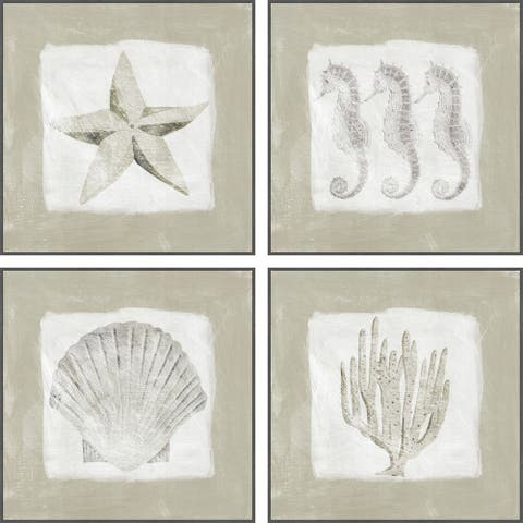 Marmont Hill - Handmade Sea Fun Quadriptych