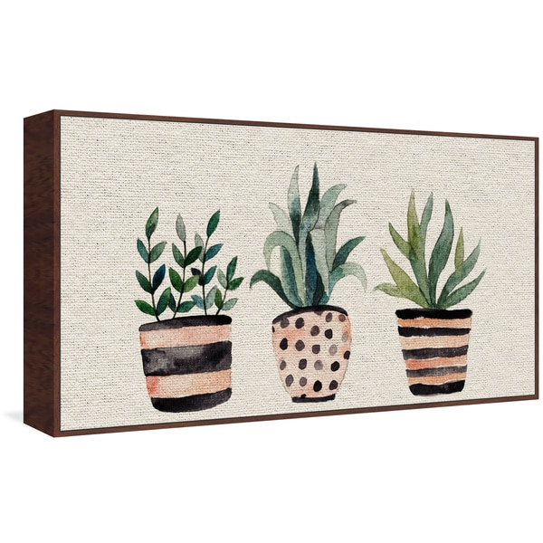 Marmont Hill - Handmade Three Plants Floater Framed Print on Canvas