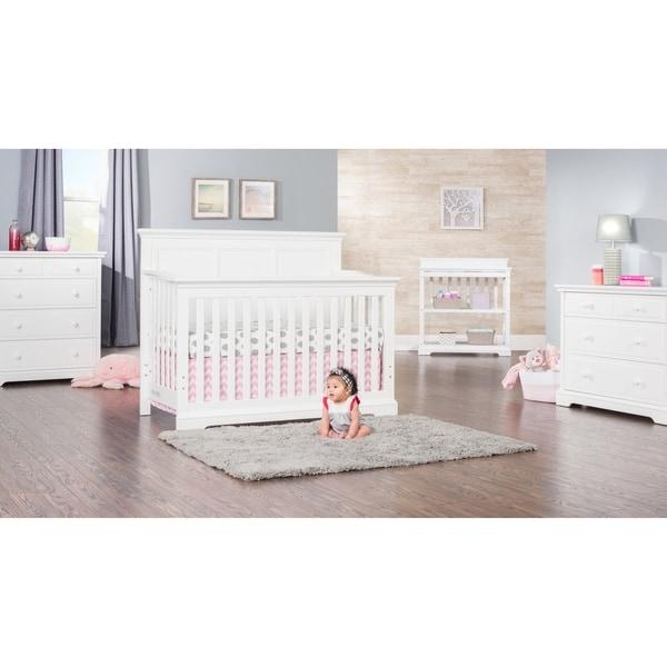 Kelsey 4-in-1 Convertible Crib - Matte White