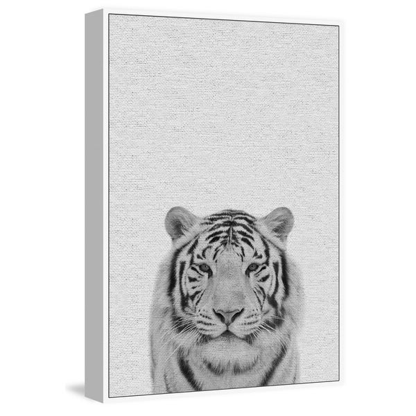 Marmont Hill - Handmade Tamed Tiger II Floater Framed Print on Canvas